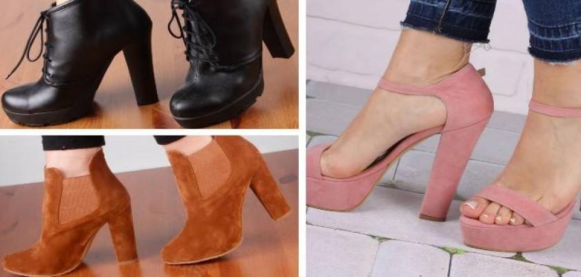 Platform Topuk Bayan Ayakkabılar